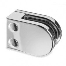 Zintec 'D' Shaped Glass Clamp with Flat Base