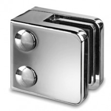 Zintec Square Glass Clamp with Flat Back