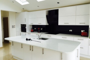 Coloured Splashback - Black