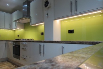 Coloured Splashback - Lime Green