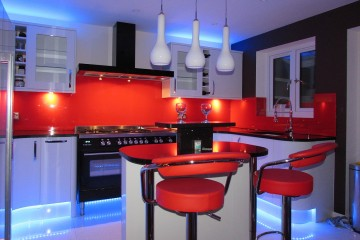Coloured Splashback - Red (After)
