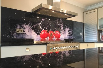 Digital Print Splashback - Red Tomato with Splash