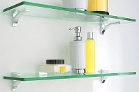 Custom Made Glass Shelves